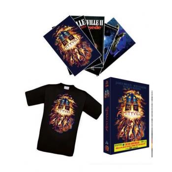 AMITYVILLE – LA TRILOGIE ORIGINELLE – EDITION COLLECTOR BLU-RAY ET DVD + 5 CARTES POSTALES + 1 TEE SHIRT